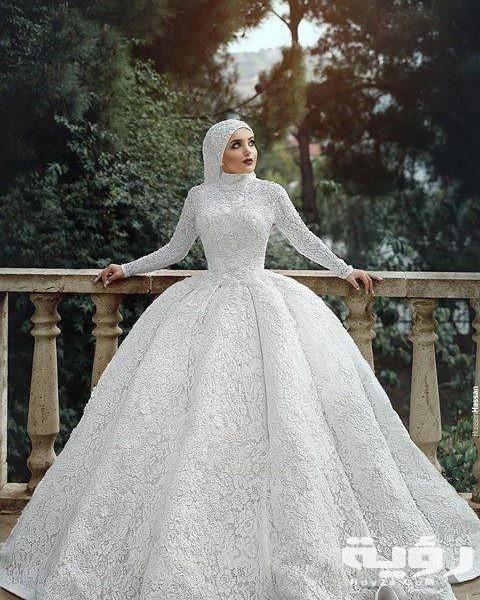 صور فساتين زفاف للمحجبات 2021 فساتين فرح للمحجبات