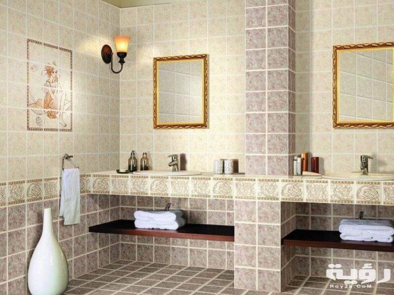 صور سيراميك حمامات بألوان مختلفة 2021 اشكال سيراميك حمامات